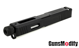 Guns Modify SA T1 Aluminum Slide / Black Stainless Threaded Barrel CCW Set For Marui G19