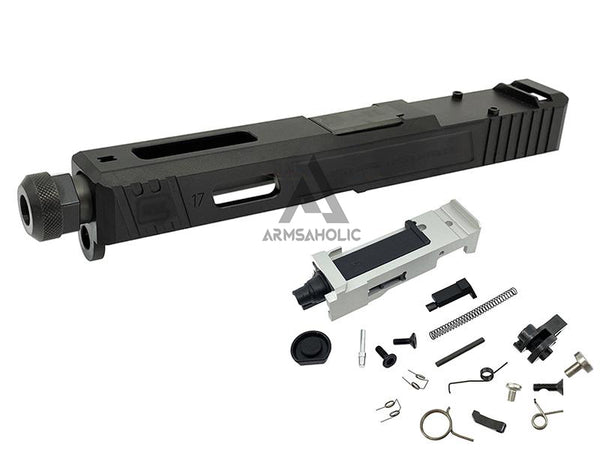 Guns Modify SA Style RMR Slide Threaded Stainless Barrel (Black) Housing & Parts for Marui G17 #GM0424