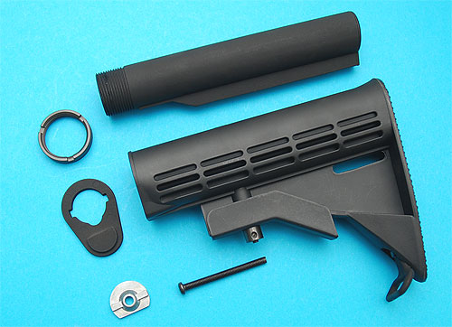 G&P M4A1 6 Position Sliding Buttstock (Black) (New Mode) - GP-GP379