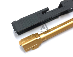 Nova Aluminum S-style G17 Slide with Tactical Thread barrel (Golden) Set for Marui G17 Airsoft GBB series