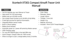 Xcortech XT301 6mm BB Compact Tracer Unit 11mm CW & 14mm CCW Adaptor Duplicate