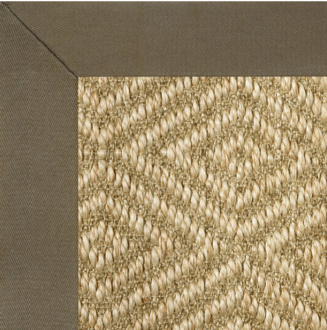 cotton edge border on natural grass rug