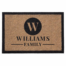 Infinity custom all weather door mat natural