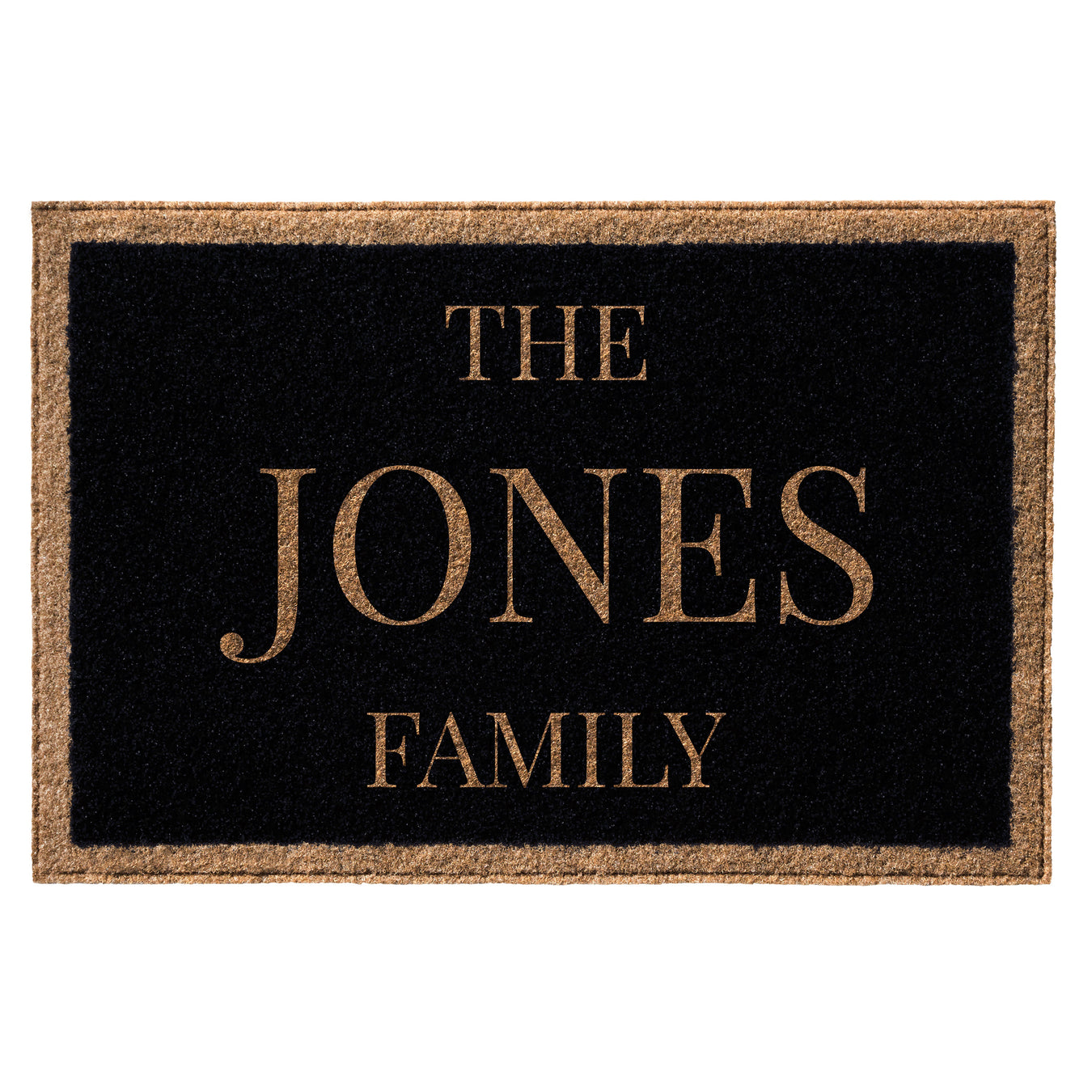 Infinity Custom Mats™ All-Weather Personalized Door Mat - STYLE: FAMILY COLOR:BLACK