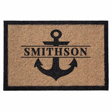 Infinity Custom Mats™ All-Weather Personalized Door Mat - STYLE: ANCHOR COLOR: TAN
