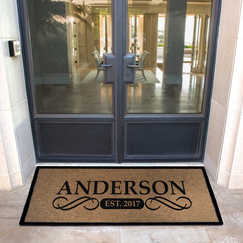 Infinity Custom Mats™ All-Weather Personalized Door Mat - STYLE: ANDERSON COLOR:TAN