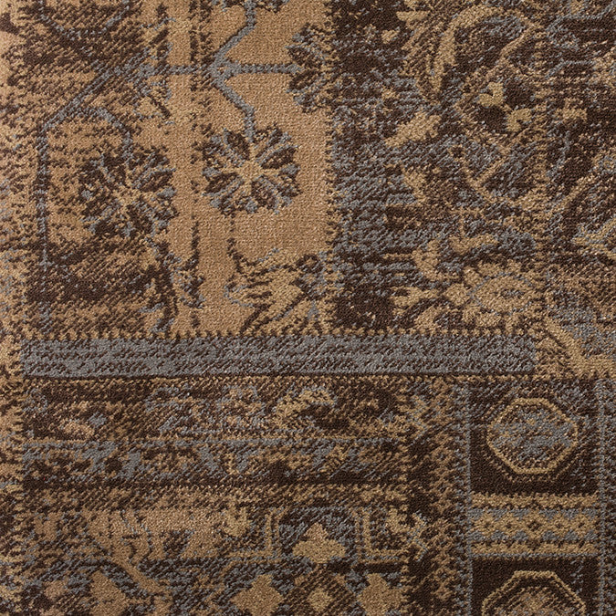Beige Brown oriental area rug