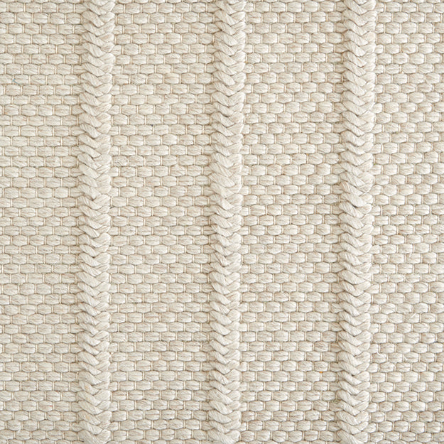 Irvine Hand-Loomed Wool Blend Custom Rug - Canvas