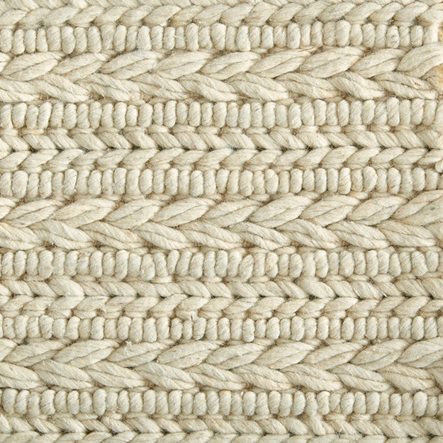 Coventry Cord Hand-Loomed Wool Blend Custom Rug - Ivory
