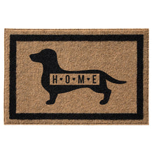 Infinity Custom Mats™ All-Weather HOME Door Mat - STYLE: DACHSHUND HOME COLOR:TAN