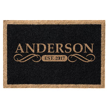 Infinity Custom Mats™ All-Weather Personalized Door Mat - STYLE: ANDERSON COLOR: BLACK