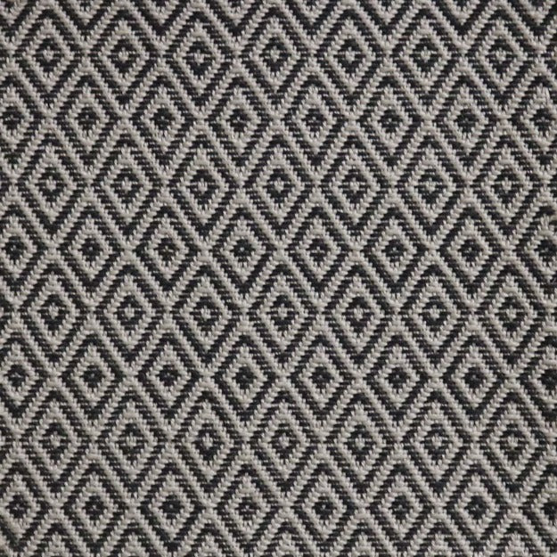 High-Performance All-Weather Indoor/Outdoor Custom Rug with UV Resistant Standard Edge Finish - Etna Alexandra Ebony