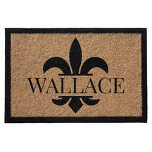 Infinity Custom Mats™ All-Weather Personalized Door Mat - STYLE: FLUER DE LIS COLOR:TAN
