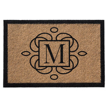 Infinity Custom Mats™ All-Weather Personalized Door Mat - STYLE: Floral Monogram COLOR: TAN