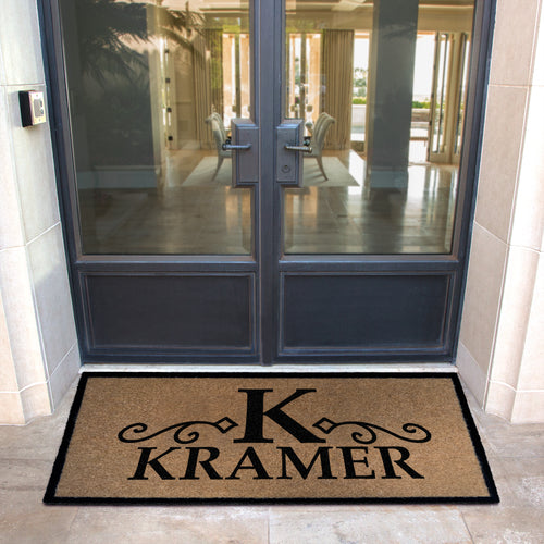 Infinity Custom Mats™ All-Weather Personalized Door Mat - STYLE: KRAMER COLOR: TAN