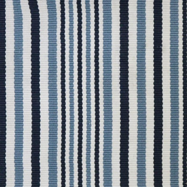 High-Performance All-Weather Indoor/Outdoor Custom Rug with UV Resistant Standard Edge Finish - Kyle Marine Blue