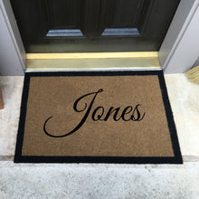 Infinity Custom Mats™ All-Weather Personalized Door Mat - STYLE: SINGLE FAMILY NAME COLOR:TAN