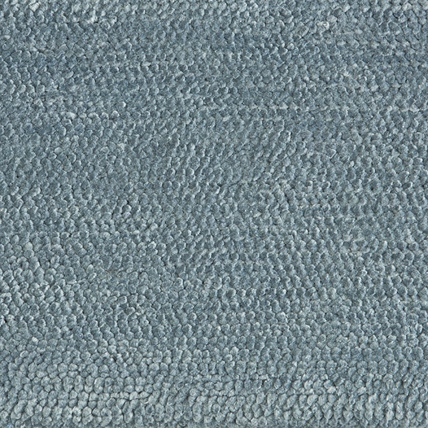 Lanark Hand-Loomed Wool Blend Custom Rug - Spring Sky