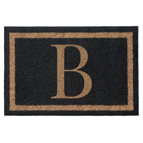 Infinity Custom Mats™ All-Weather Personalized Door Mat - STYLE: FARMHOUSE MONOGRAM COLOR:BLACK