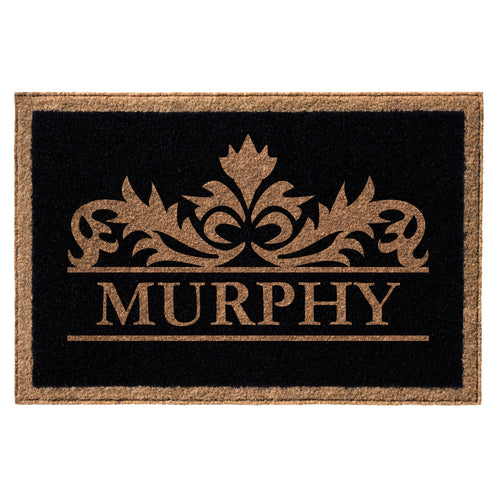 Infinity Custom Mats™ All-Weather Personalized Door Mat - STYLE: MURPHY COLOR:BLACK