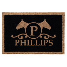 Infinity Custom Mats™ All-Weather Personalized Door Mat - STYLE: PHILIPS COLOR:BLACK