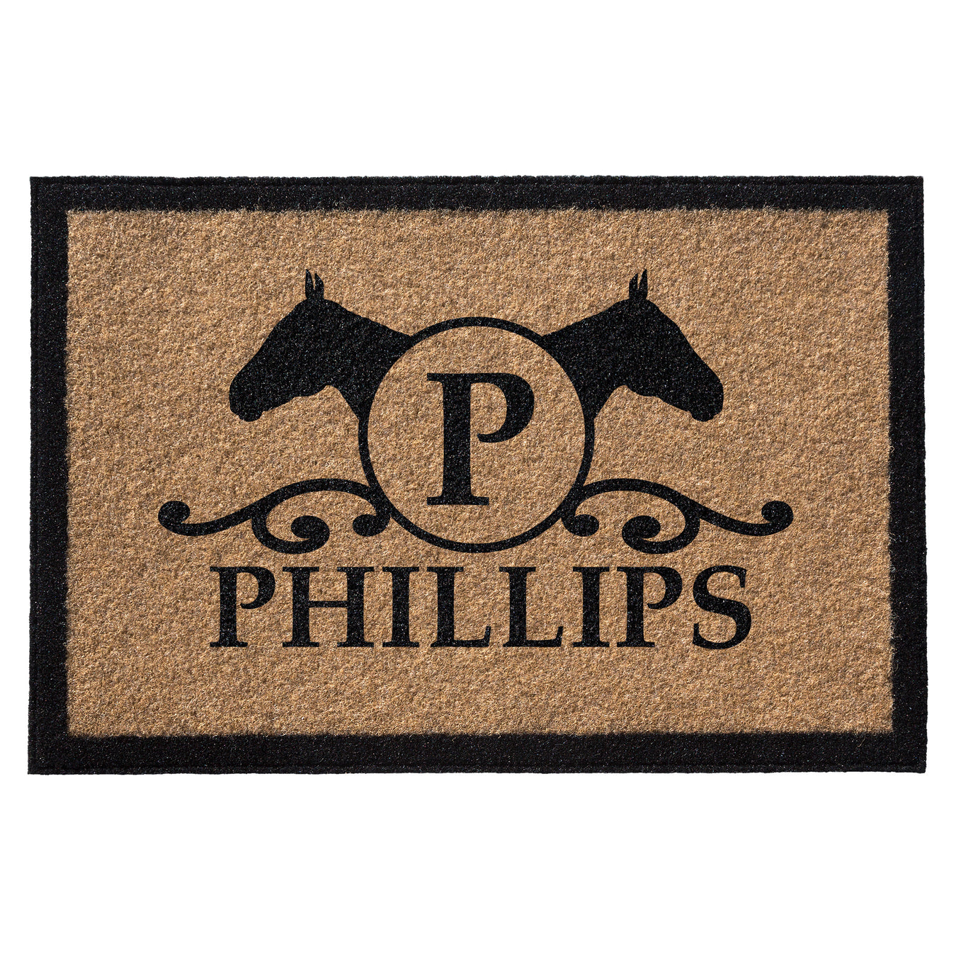 Infinity Custom Mats™ All-Weather Personalized Door Mat - STYLE: PHILIPS COLOR:TAN