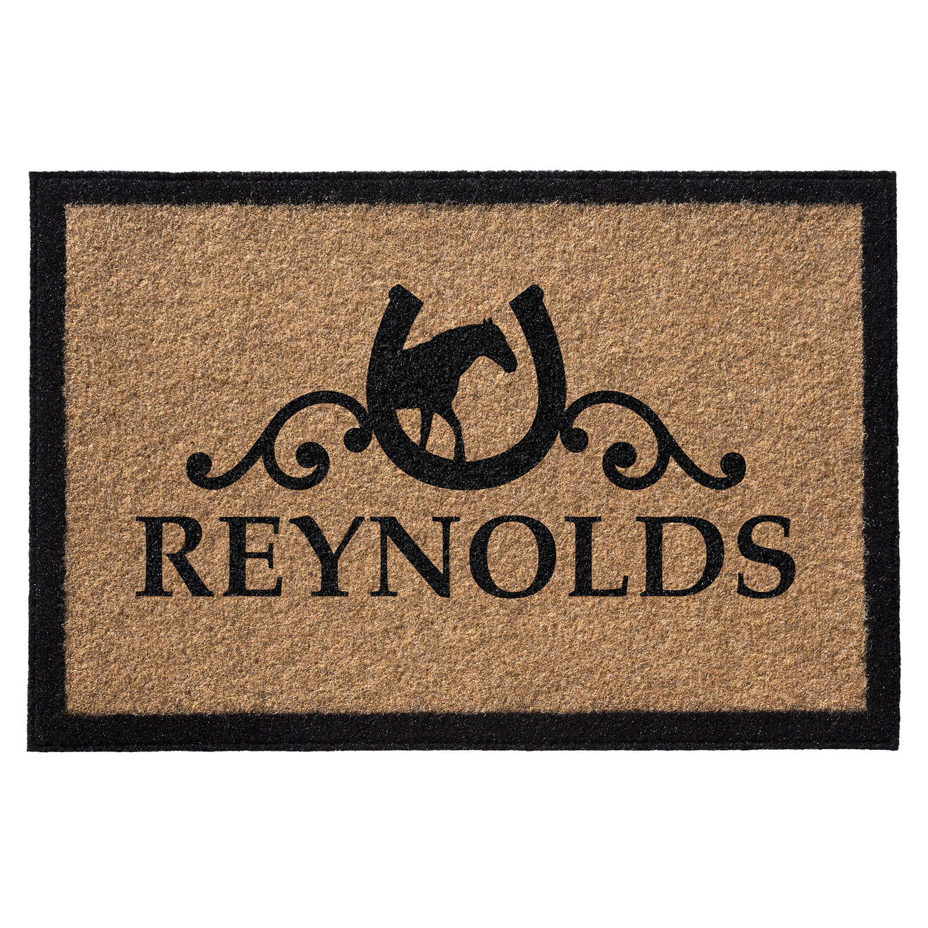 Infinity Custom Mats™ All-Weather Personalized Door Mat - STYLE: REYNOLDS COLOR:TAN
