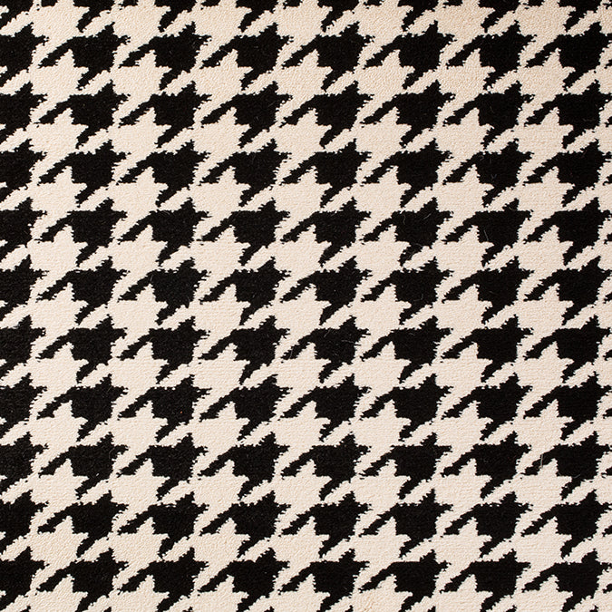 Cutting Edge Woven Rug - Black/Cream Hounds Tooth