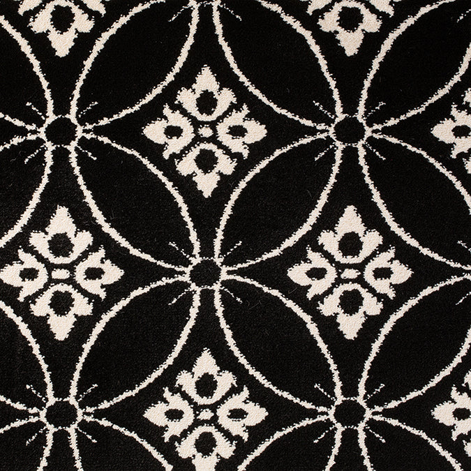 Cutting Edge Woven Custom Rug - Black/Cream Night n'Day