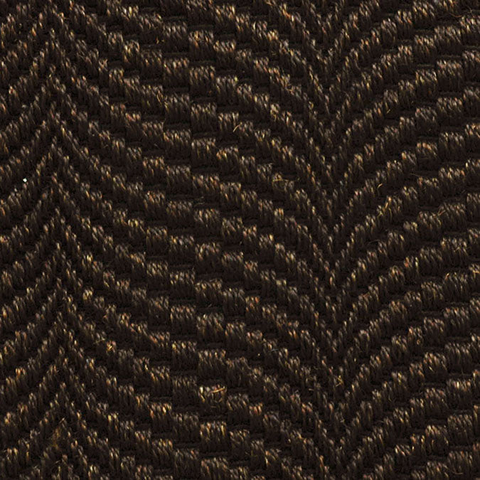 Fibreworks® Custom 100% Sisal Rug with Matching Serged Border or Other Border Options - Mermaid Black Sand 354
