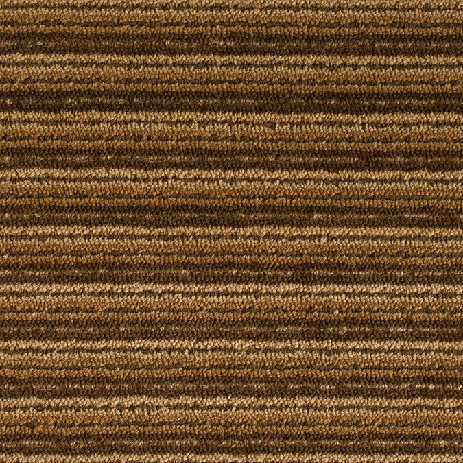 Linear Wool Woven Custom Rug - Brown/Gold Multi Alexandrite