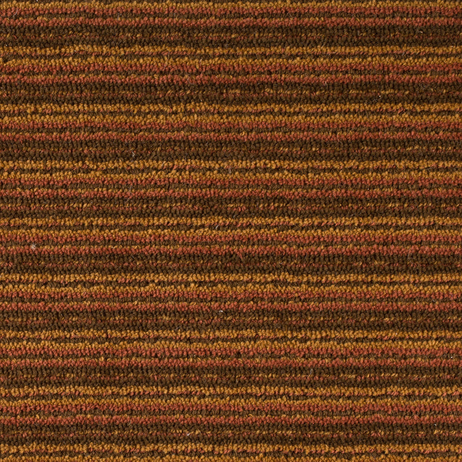 Linear Wool Woven Custom Rug - Multi Spice Amber