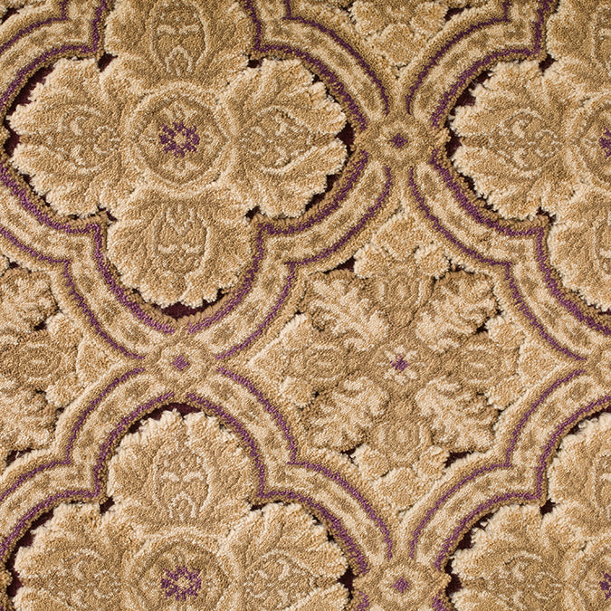Vintage Woven Custom Rug - Beige/Purple Amusement