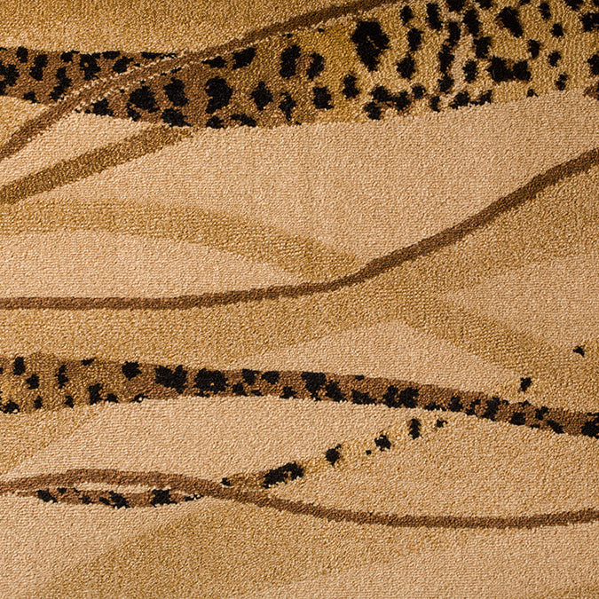 Out of Africa Woven Animal Print Custom Rug - Armadillo