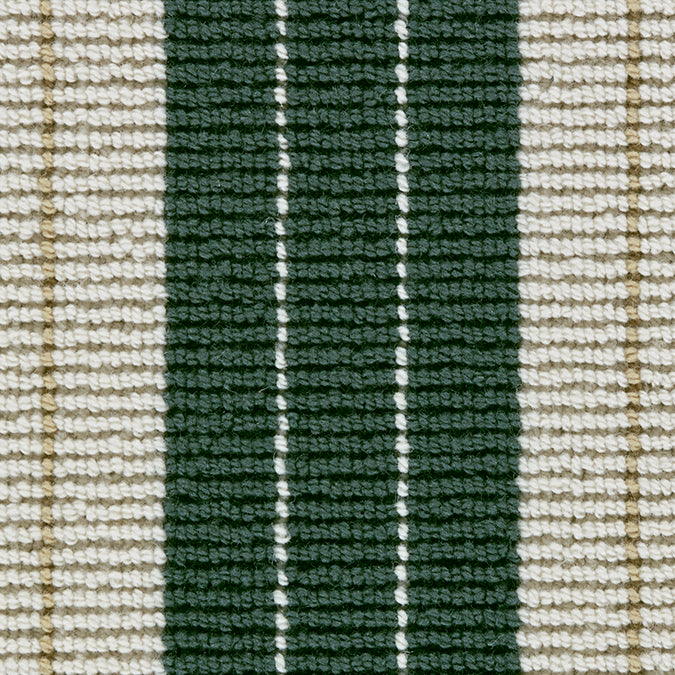 Lindsey 100% New Zealand Wool Woven Custom Rug - British Racing Green