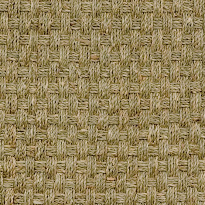 Fibreworks® Custom 100% Seagrass Rug with Matching Serged Border or Other Border Options - Botanical Blends Basket Weave 645