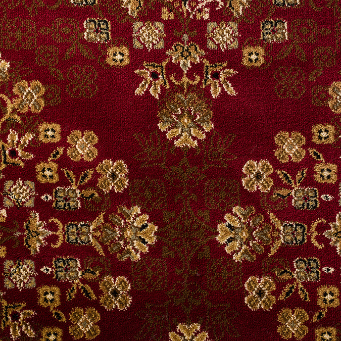 Windsor Woven Custom Rug - Red/Beige Bishop
