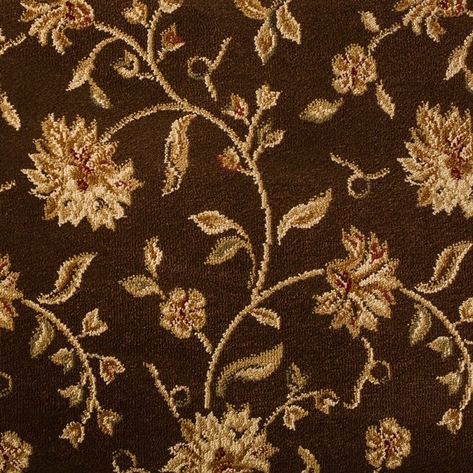 The Perfect Flower Woven Custom Rug - Brown/Tan Branchport