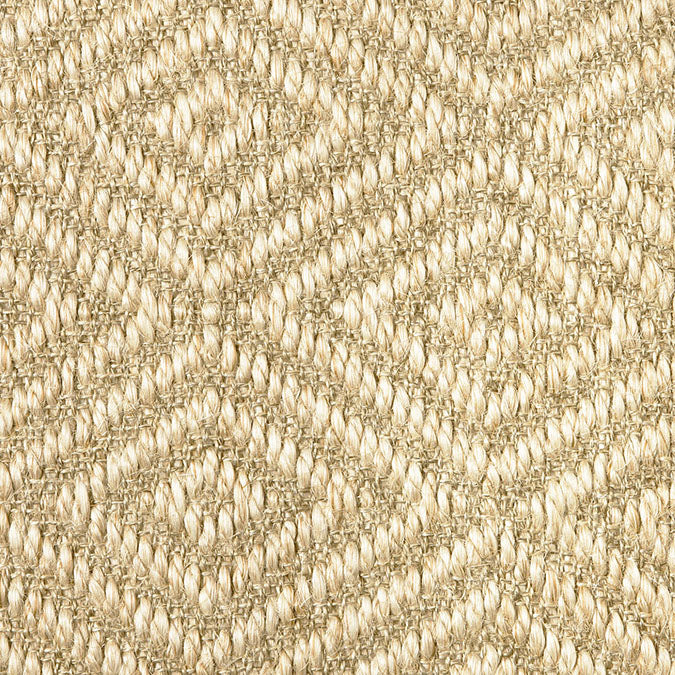 Fibreworks® Custom 100% Sisal Rug with Matching Serged Border or Other Border Options - Bakari Canvas 470