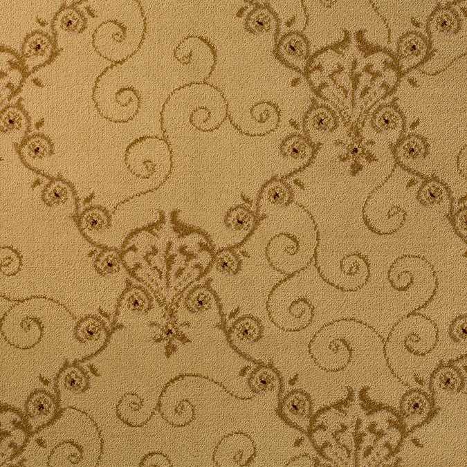 Trelligance Woven Custom Rug - Beige/Tan Chantilly Lace