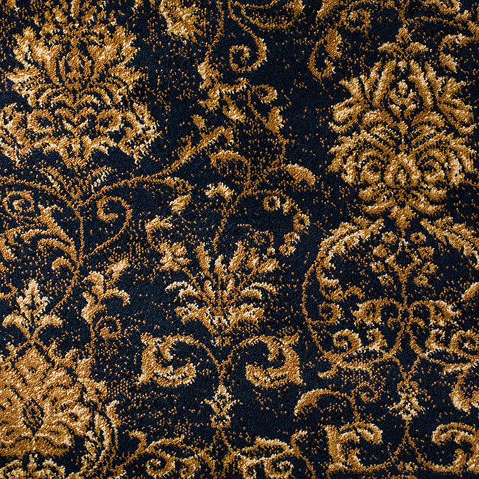 Madrid Woven Custom Rug - Tan/Deep Blue Component