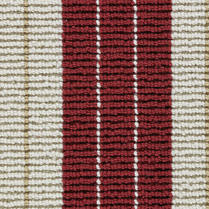 Lindsey 100% New Zealand Wool Woven Custom Rug  - Cranberry