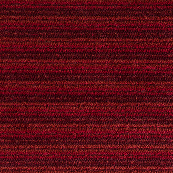Linear Wool Woven Custom Rug - Red/Berry Multi Garnet