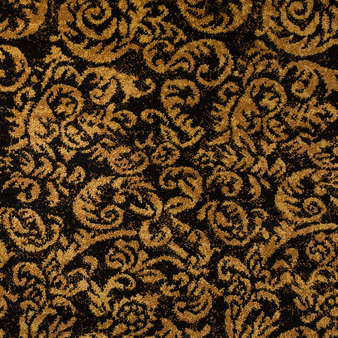 Waldorf Woven Custom Rug - Black/Tan Gilded Age