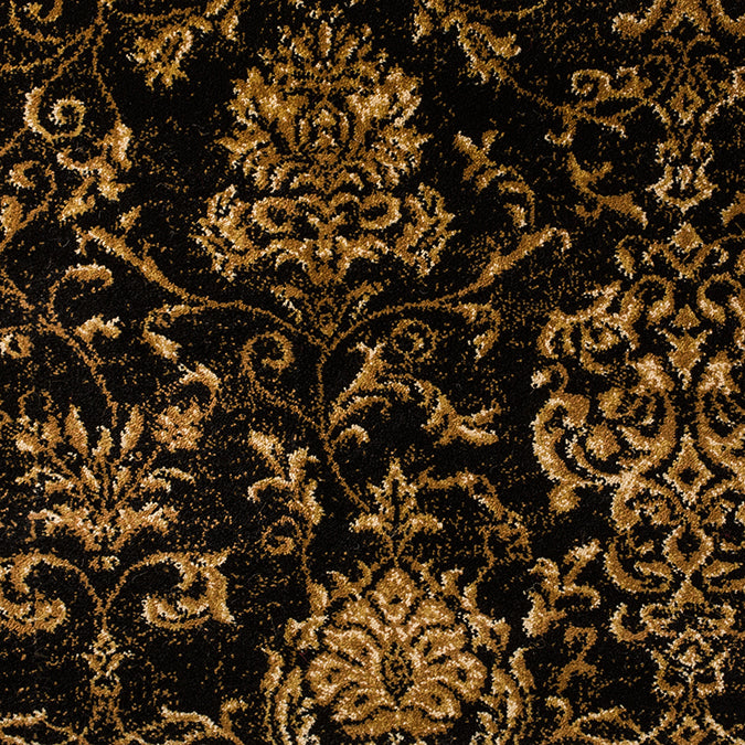 Madrid Woven Custom Rug - Tan/Black Gothic