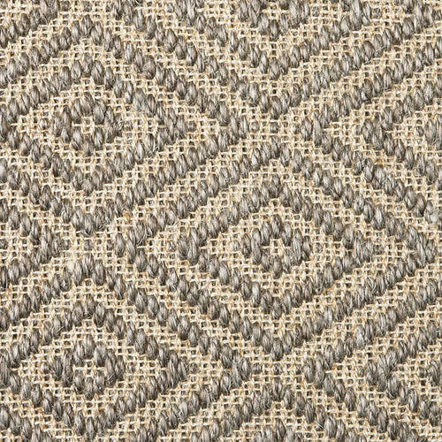 Fibreworks® Custom 100% Sisal Rug with Matching Serged Border or Other Border options - Bakari Graphite Pearl 474