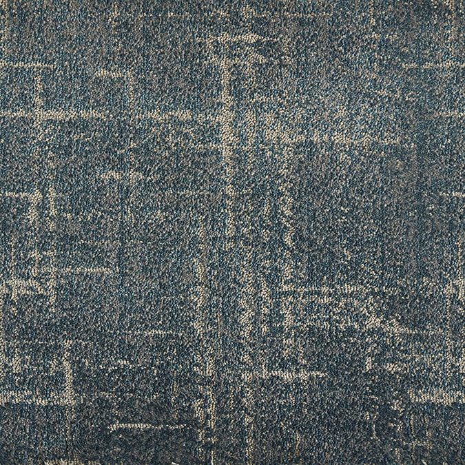 Intercross Woven Custom Rug -Antique Blue