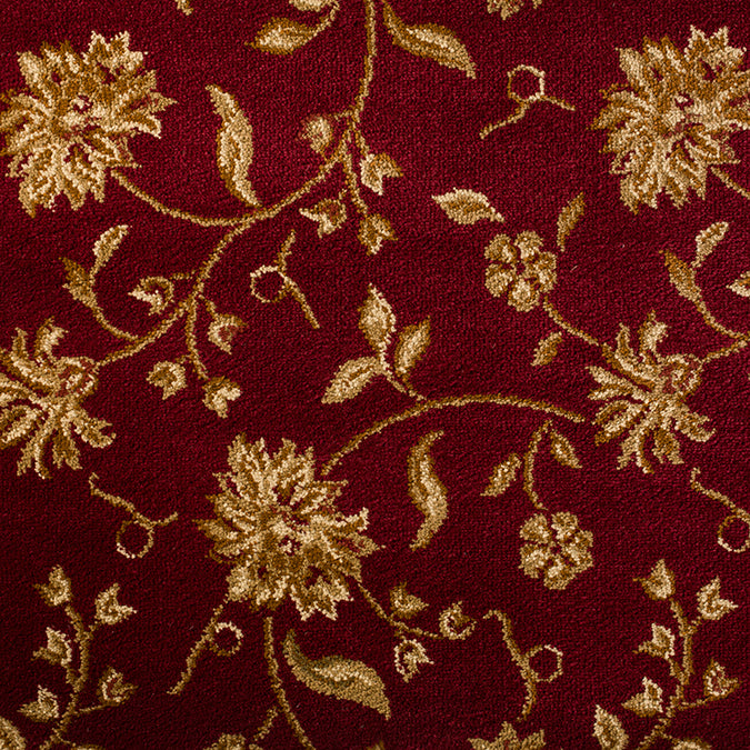 The Perfect Flower Woven Custom Rug - Red/Tan Italiano