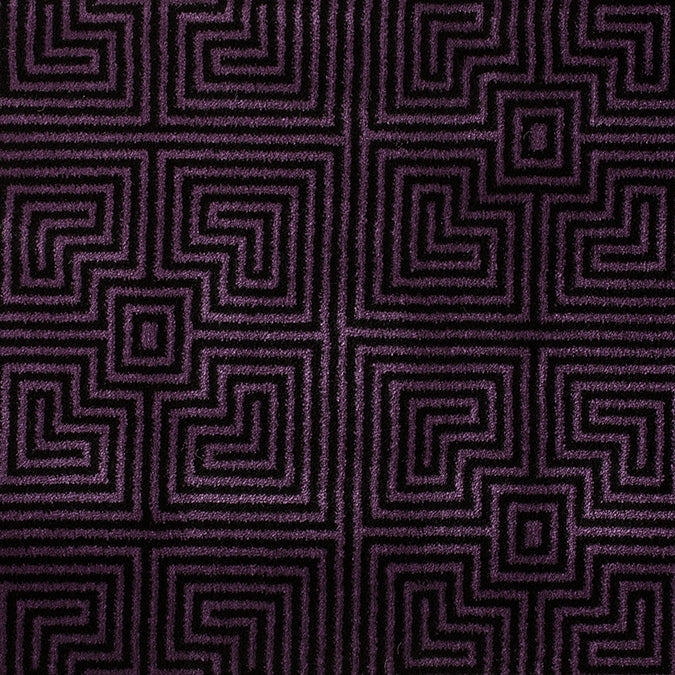 Frequency Woven Custom Rug -Purple/Black Jubilee