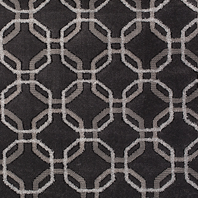 Concentric Woven Rug - Dark Grey/Grey  Junction